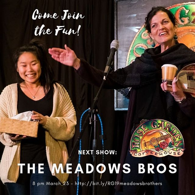 Maddy and Mary Ellen concur, you should come see the Meadows Brothers on March 23. Great brother singing, powerful songs and more. Bit.ly//RG19meadowsbrothers  @TheMeadowsBros