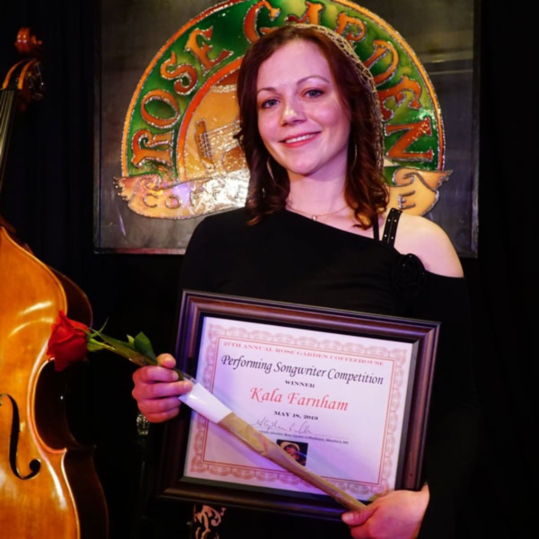 Congratulations to Connecticut's Kala Farnham, who won our 27th annual Performing Songwriter Competition on Saturday, May 18!  @kalafarnham