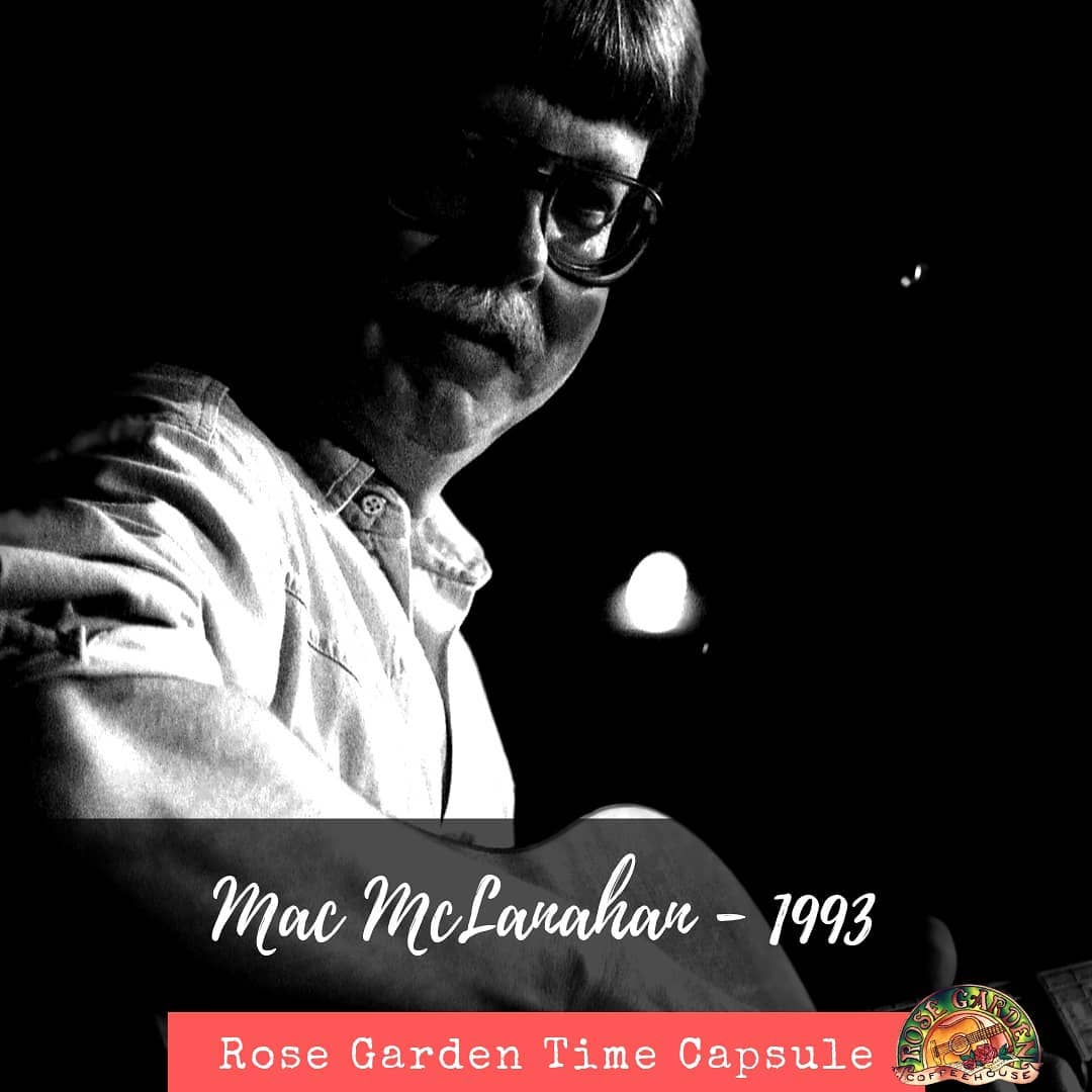 Looking back on 30 years.... We lost Mac McClanahan more than four years ago, but there is not a day he is not in our thoughts. I think Mac would be proud of the group he left to carry on his legacy. Mac and his eventual wife, Rae Anne, founded the coffeehouse as a fundraiser for the local Knights of Columbus, and the coffeehouse endures, thanks to a devoted audience and our dedicated volunteers. We're off for the summer, but we'll be back Sept. 21 with Martin Swinger.  Check our website, rosegardenfolk.com and see who else is joining us next season.