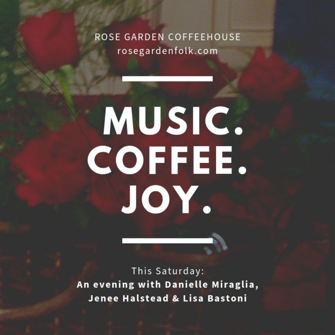 Come out for the music, coffee and sheer joy. Spend  your Saturday night with Lisa Bastoni, Danielle Miraglia and Jenee Halstead. Three top performers on one stage. http://bit.ly/RG19threeladies @jeneehalstead @dmiraglia @lisabastoni