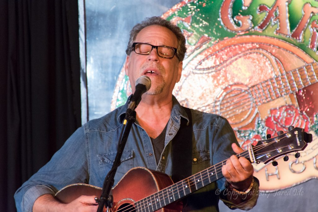 Cliff Eberhardt performs at the Rose Garden Coffeehouse, Mansfield, Mass., on May 20, 2017. Photo copyright Jared Ide