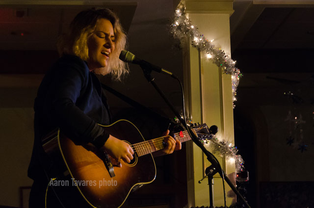 Kirsten Maxwell performs at the Rose Garden Coffeehouse in 2016. Photo by Aaron Tavares.