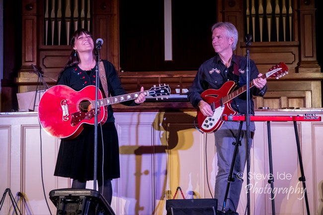The Kennedys perform at the Rose Garden Coffeehouse, Mansfield, Mass., on Saturday, April 13, 2019. Photo by Stephen Ide