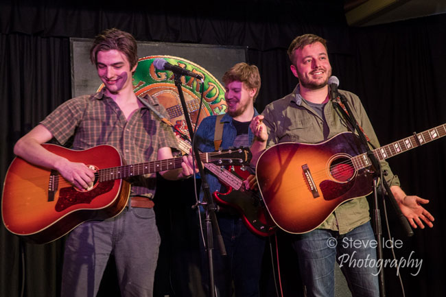 The Meadows Brothers perform at the Rose Garden Coffeehouse, Mansfield, Mass., on Saturday, March 23, 2019. Photo by Stephen Ide