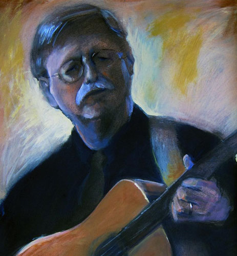Painting of Mac McLanahan ~ by Margo Lemieux