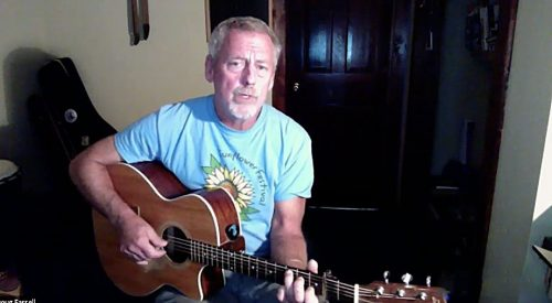 Doug Farrell during 2020 Rose Garden Performing Songwriter Competition on Zoom