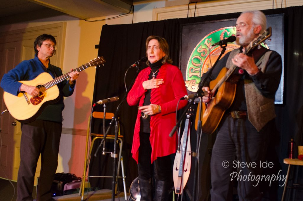 Rolly Brown joins Magpie on stage at the Rose Garden on April 16, 2016. Photo by Stephen Ide