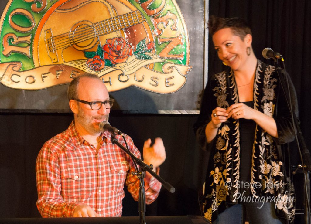 Genna & Jesse perform at the Rose Garden Coffeehouse, Mansfield Mass. on Saturday, Jan. 14, 2017. Photo by Stephen Ide
