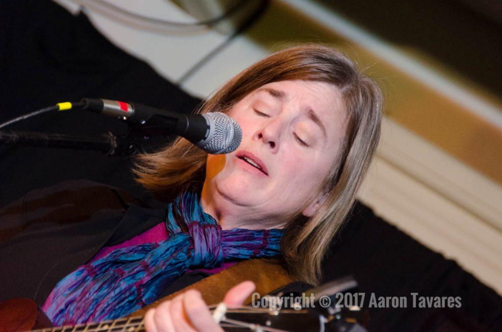Jennifer Kimball performs at the Rose Garden Coffeehouse, Mansfield, Mass., on Saturday, Feb. 11, 2017. Photo Copyright © 2017 Aaron Tavarez.