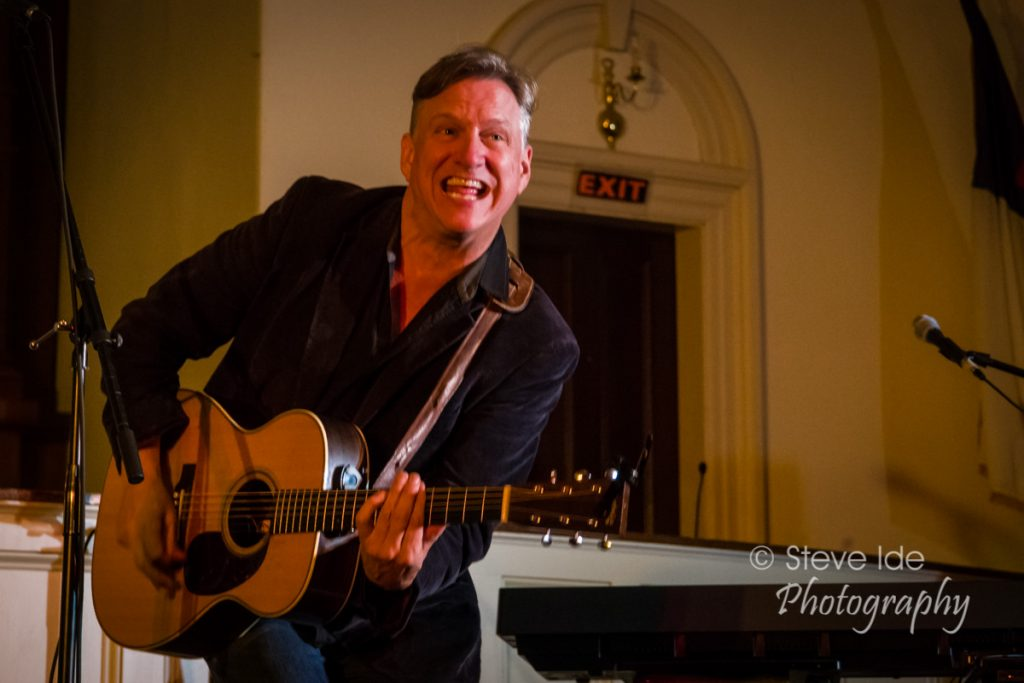Ellis Paul performs at the Rose Garden Coffeehouse, Mansfield, Mass., on Saturday, May 19, 2018. Photo by Stephen Ide.
