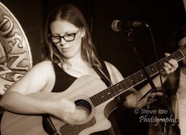 Grace Morrison performs at the Rose Garden Coffeehouse, Mansfield, Mass. Photo © Copyright 2018 Stephen Ide